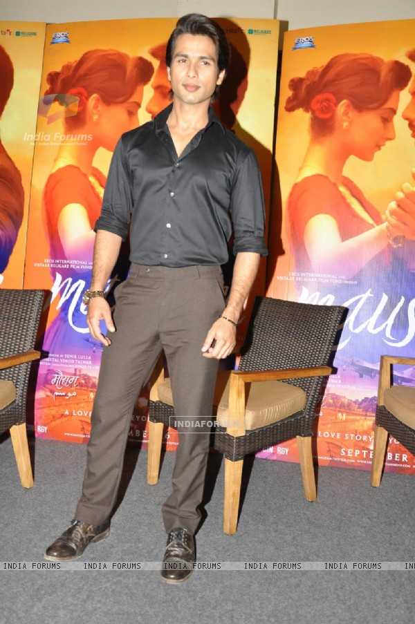 Shahid Kapoor at Press Conference of Film 'Mausam'
