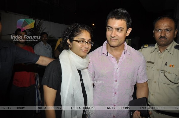 Aamir Khan and Kiran Rao at 'Mere Brother Ki Dulhan' success bash