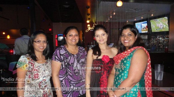 Rubina with fans in US
