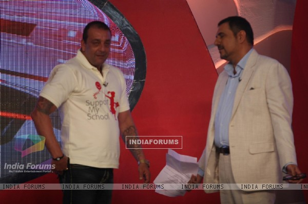 Sanjay Dutt and Boman Irani at Coca-Cola India and NDTV 'SUPPORT MY SCHOOL' campaign event