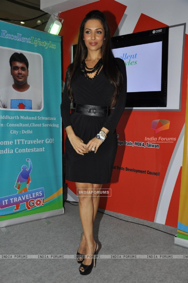 Malaika Arora Khan announces the 4 contestants of IT Travelers Go! India Team at Inorbit Mall in Vashi, Navi Mumbai