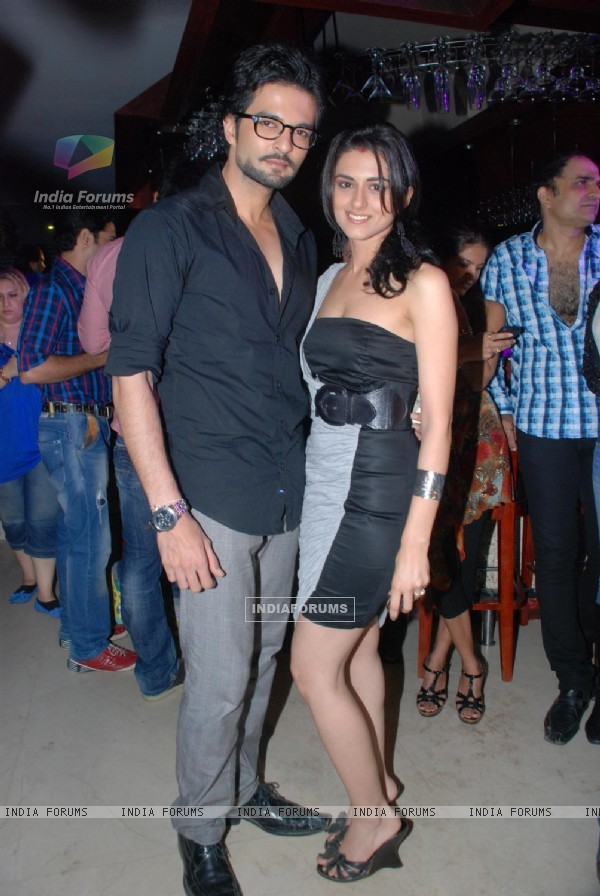 RaQesh with Riddhi Dogra Vashisth at 'Maryaada Lekin Kab Tak' tvshow completion party of 200 episode