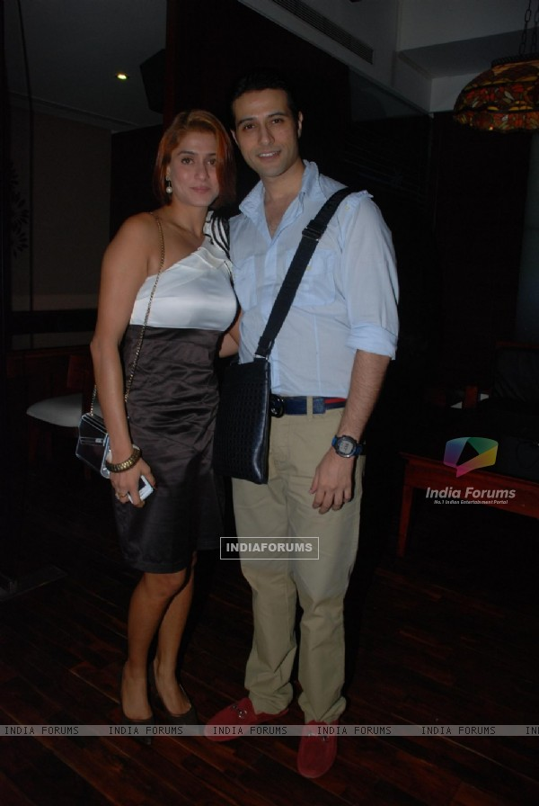 Shilpa with Apurva Agnihotri at 'Maryaada Lekin Kab Tak' tvshow completion party of 200 episodes