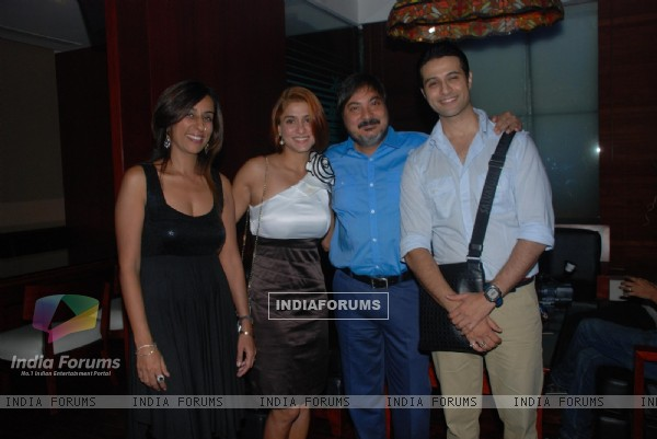 Tony & Deeya Singh with Shilpa and Apurva Agnihotri at 'Maryaada Lekin Kab Tak'  completion party