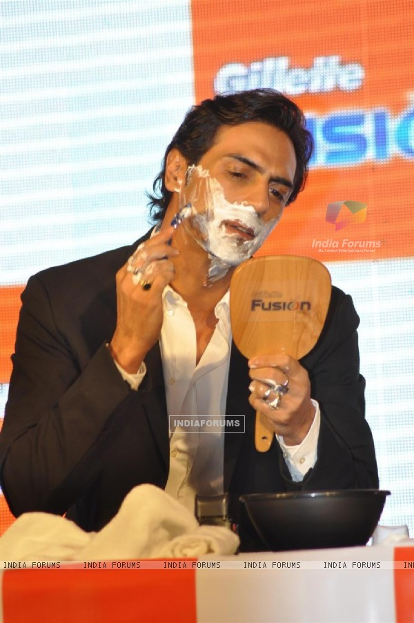 Arjun Rampal at launch of 'Gillette Fusion'