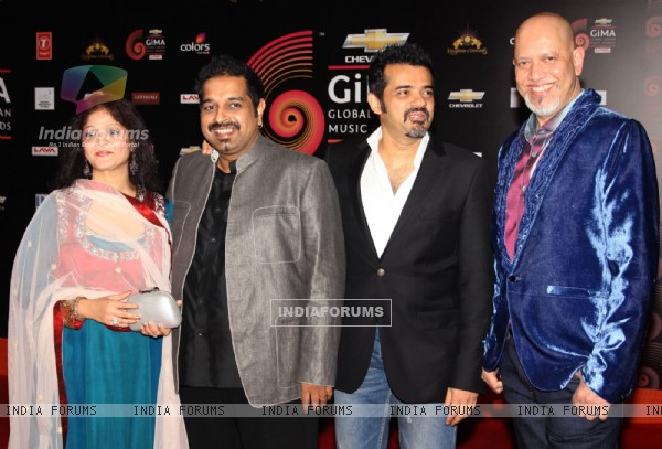 Shankar Mahadevan, Ehsaan Noorani and Loy Mendonsa at the ''Chevrolet Global Indian Music Awards'' at Kingdom of Dreams in Gurgaon