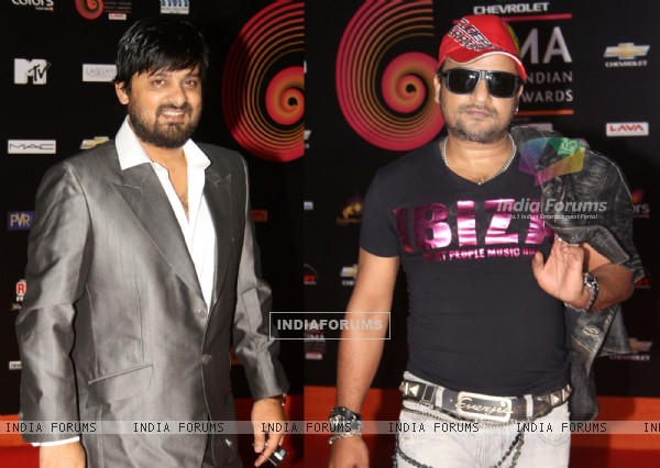 Sajid-Wajid at 'Chevrolet Global Indian Music Awards' at Kingdom of Dreams in Gurgaon