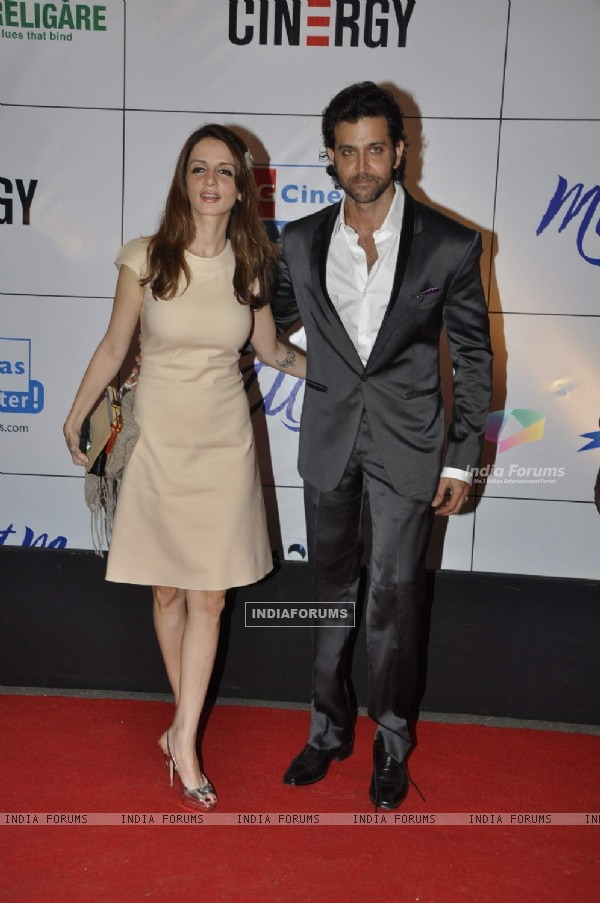 Hrithik Roshan and Suzanne at premiere of film MAUSAM at Imax, Wadala in Mumbai. . (160464)