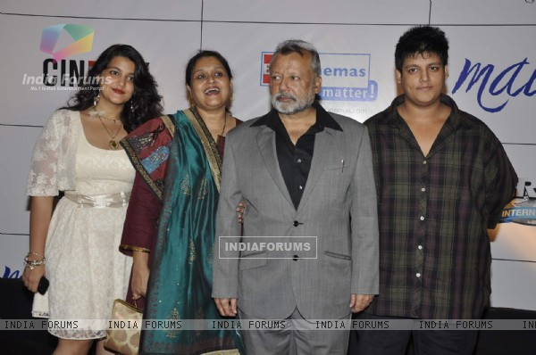 Pankaj Kapoor with Supriya Pathak at premiere of film MAUSAM at Imax, Wadala in Mumbai (160465)