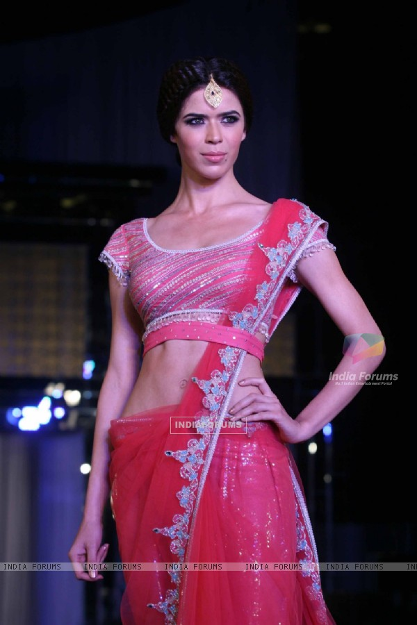 Model walks the ramp for Rocky S at Aamby Valley City India Bridal Week 2011 Day 1 at Sahara Star