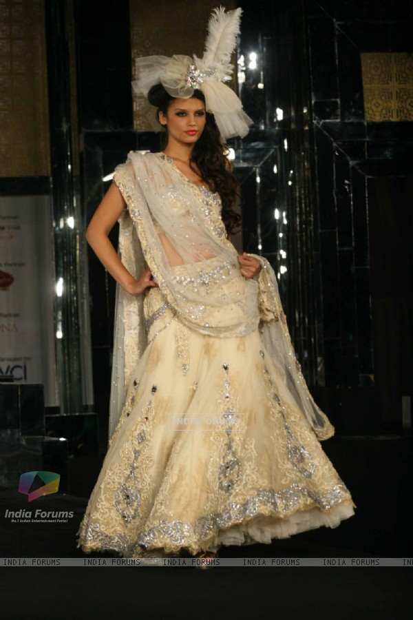 Model walks the ramp for Anjalee and Arjun Kapoor at Aamby Valley City India Bridal Week 2011 Day 1