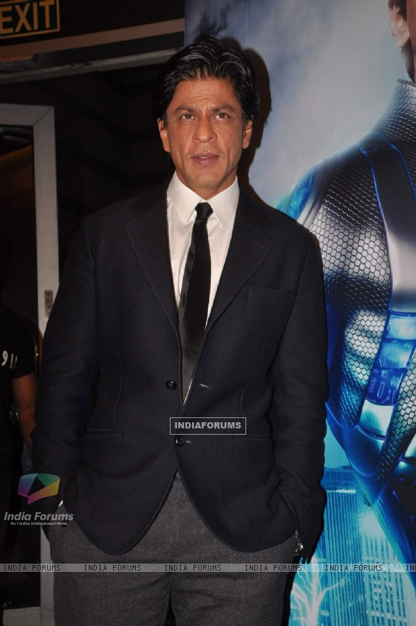 Shah Rukh Khan at Western Union-Ra.One media meet at Grand Hyatt, Mumbai