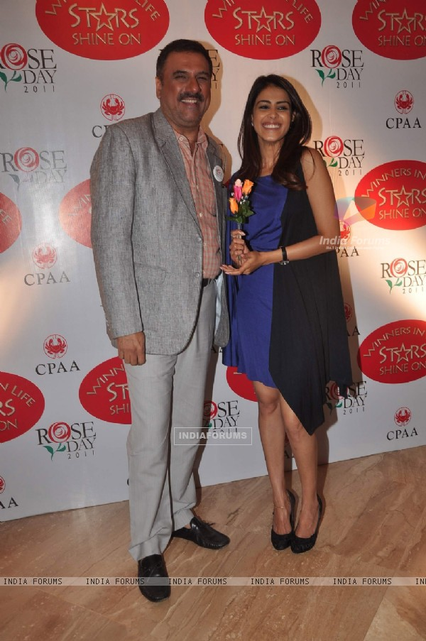 Genelia and Boman at CPAA Rose Day meet
