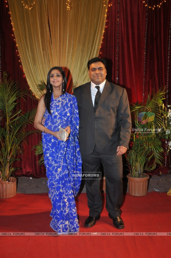 Ram and Gautami Kapoor at ITA Awards at Yashraj studios in Mumbai