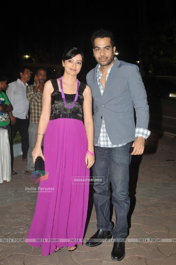 Sachal Tyagi with wife Jaya at ITA Awards at Yashraj studios in Mumbai