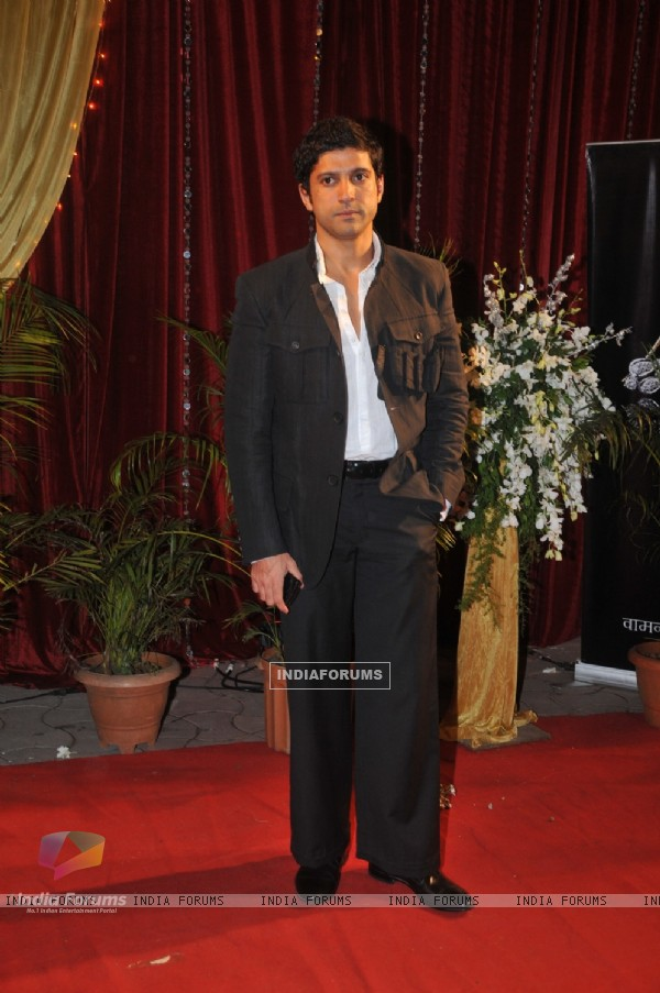 Farhan Akhtar at ITA Awards at Yashraj studios in Mumbai