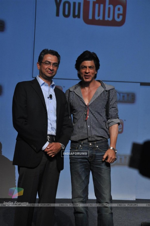 Shah Rukh Khan with Rajan Anandan launched custom built movie channel on YouTube for his upcoming film 'Ra.One'