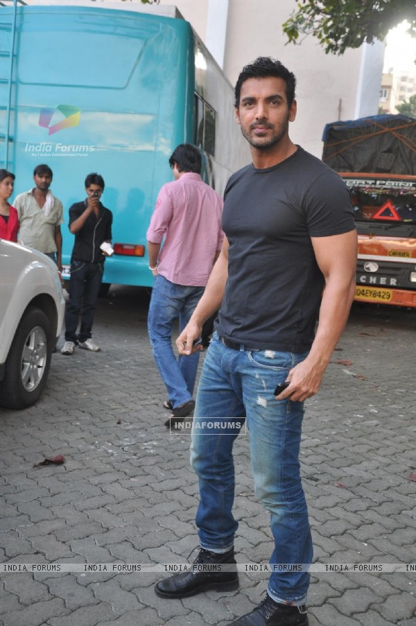 John Abraham during the promotion of their film 'Force' in Mumbai (161267)