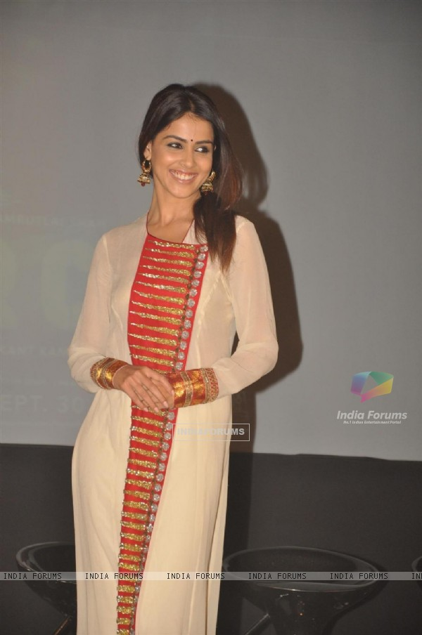 Genelia Dsouza during the promotion of their film 'Force' in Mumbai