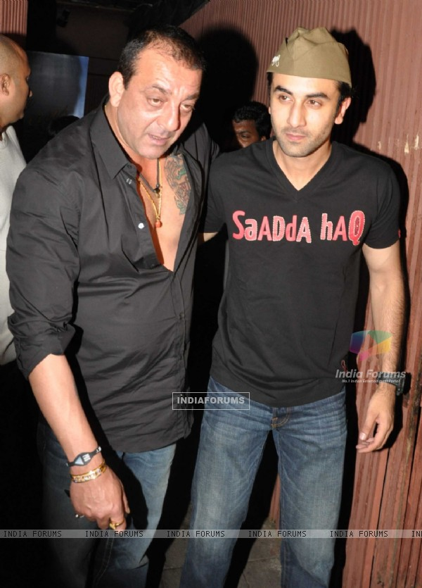 Sanjay Dutt at Ranbir Kapoor birthday party and Rockstar bash at Aurus