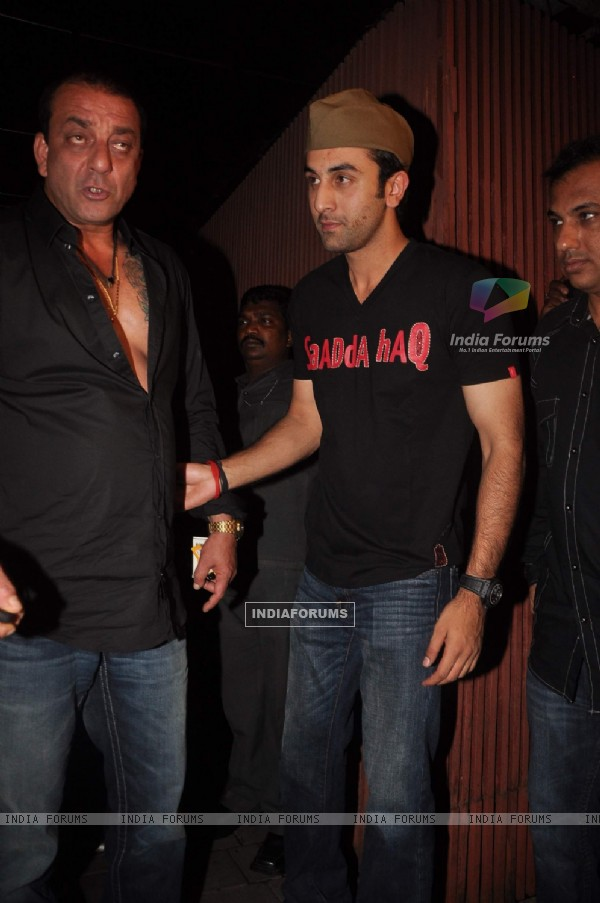 Sanjay Dutt at Ranbir Kapoor's bday and Rockstar bash at Aurus