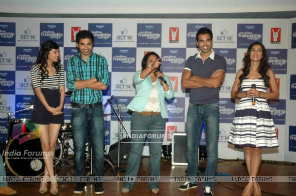 Cast and Crew at Mujhse Fraaandship Karoge music showcase at Yashraj Studios (161424)