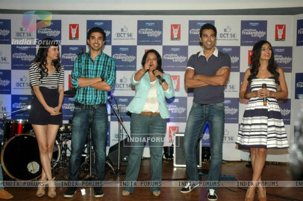Cast and Crew at Mujhse Fraaandship Karoge music showcase at Yashraj Studios (161425)