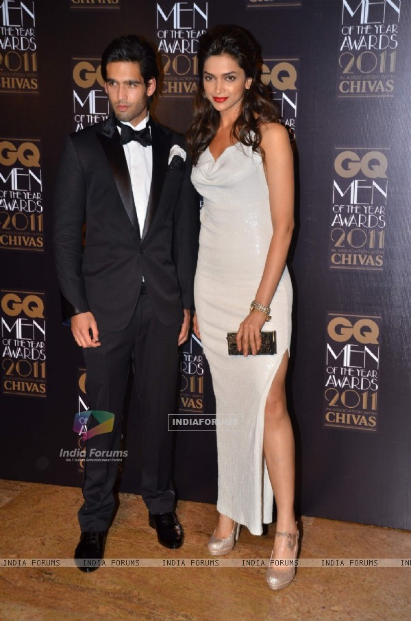 Siddharth Mallya with Deepika at GQ celebrates its 3rd anniversary in India with the Men of the Year