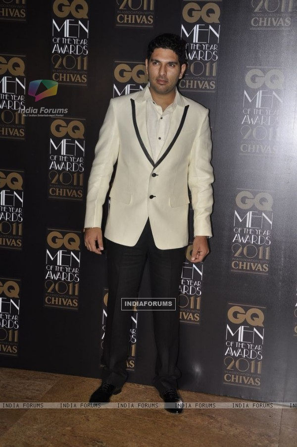 Yuvraj Singh at GQ Men Of The Year Awards 2011 at Grand Hyatt in Mumbai