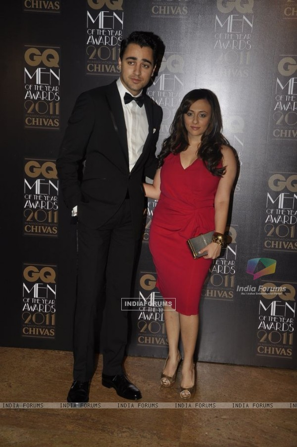 Imran Khan with wife at GQ Men Of The Year Awards 2011 at Grand Hyatt in Mumbai