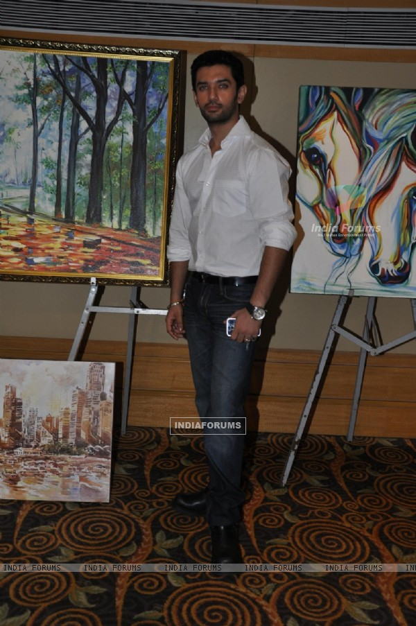 Chirag Paswan poses during an Art Exhibition at Vivanta by Taj in Mumbai