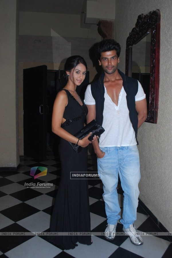 Krystle Dsouza and Kushal Tandon at launch party of their show Ek Hazaaron Mein Meri Behna Hain