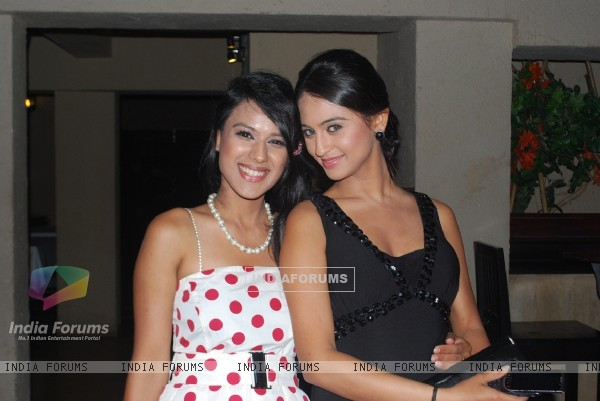 Nia Sharma and Krystle Dsouza at launch party of their show Ek Hazaaron Mein Meri Behna Hain
