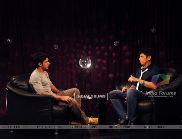 Farhan Akhtar with Omar Qureshi on Zoom