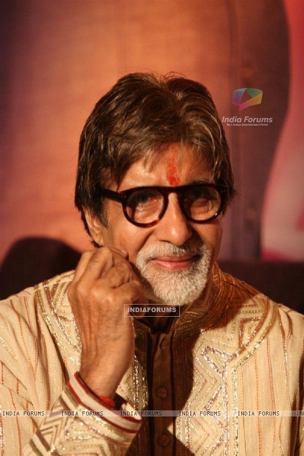 Amitabh Bachchan during the celebration of his birthday on the sets of Kaun Banega Crorepati in Mumbai