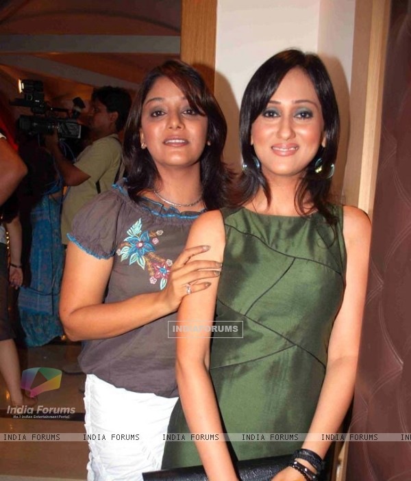 Kshitee Jog  and Gunjan Walia having fun in party