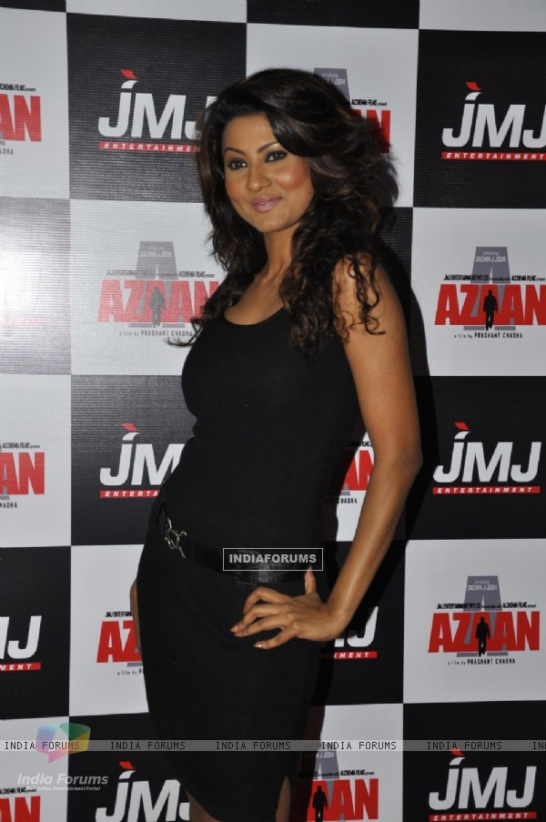 Nigaar Z. Khan at Premiere of film 'Aazaan' at PVR Cinemas in Juhu, Mumbai