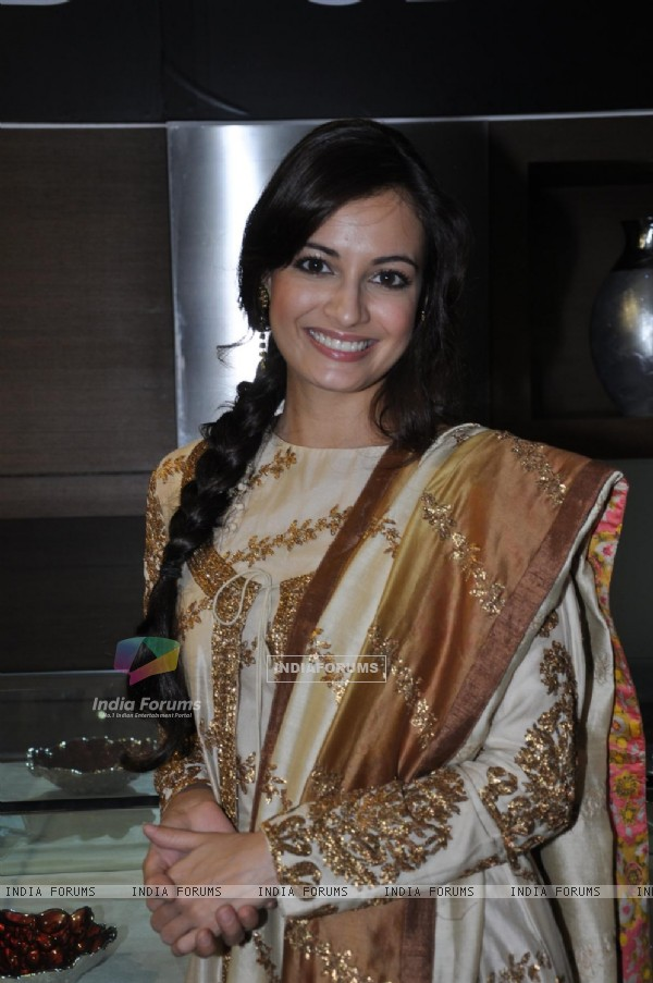 Dia Mirza during the unveiling of Gitanjali Group Alder & Roth's new collection in Mumbai