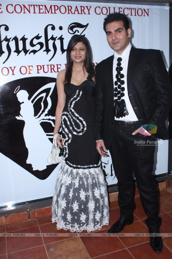 Arbaaz Khan with Khushi Z Fashion Store launch in Juhu, Mumbai