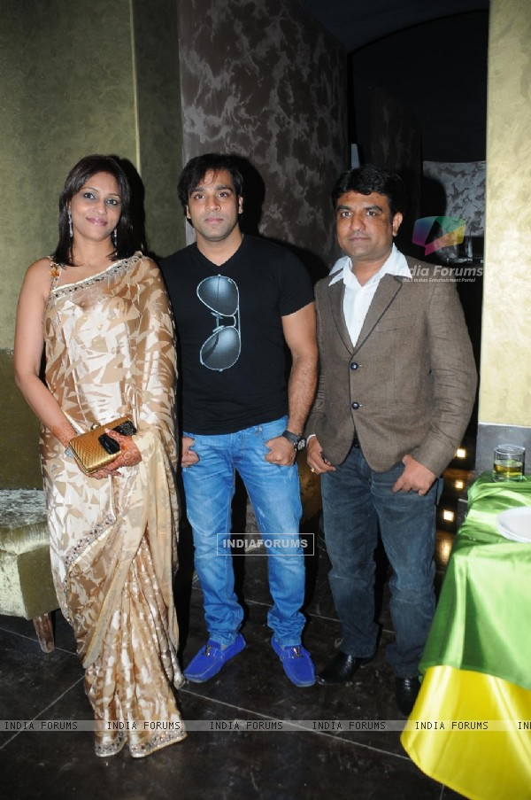 Abhishek Avasthi with Sanjana at Grand launch of 'CAVE' for the first time in Mumbai a Sunken Bar