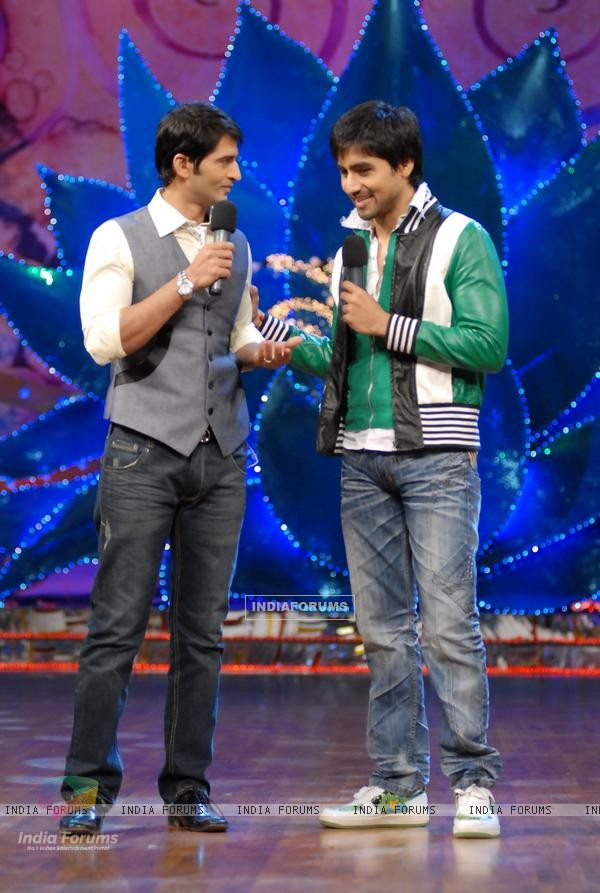 Harshad Chopra and Hiten Tejwani in Nach Baliye
