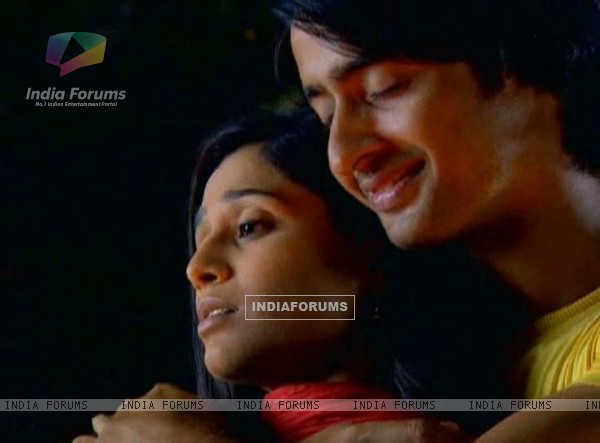 Shaheer as Anant & Soumya as Navya in tv show Navya