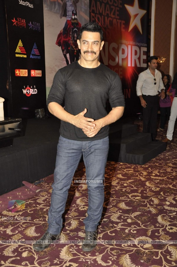 Aamir Khan at Star press meet. .