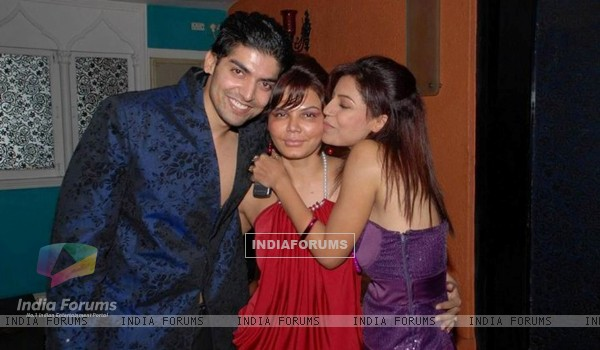 Gurmeet, Debina & Rakhi at Gurmeet's Birthday Party