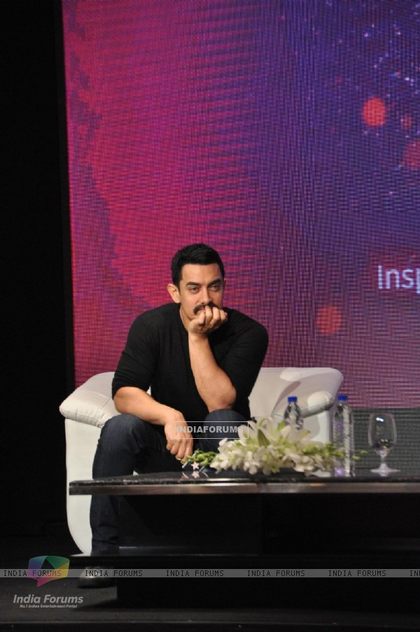 Aamir Khan at Star press meet to announced a unique new Star Plus project