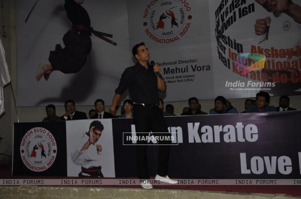 Akshay Kumar grace the Karate event at Andheri Sports Complex
