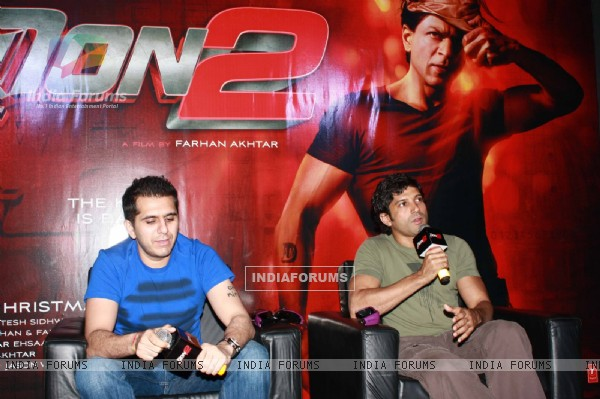 Farhan Akhtar and Ritesh Sidhwani at Press Conference of first look launch of Don 2