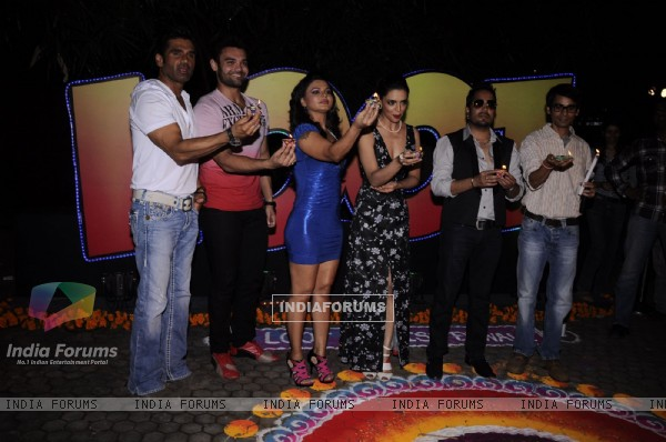 Suniel Shetty, Rakhi Sawant, Mika and Mahakshay at Loot Diwali special shoot, Bandra