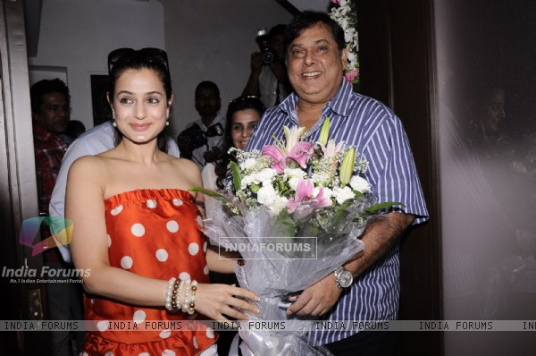Ameesha Patel production house inaugurated by David Dhawan in Juhu, Mumbai