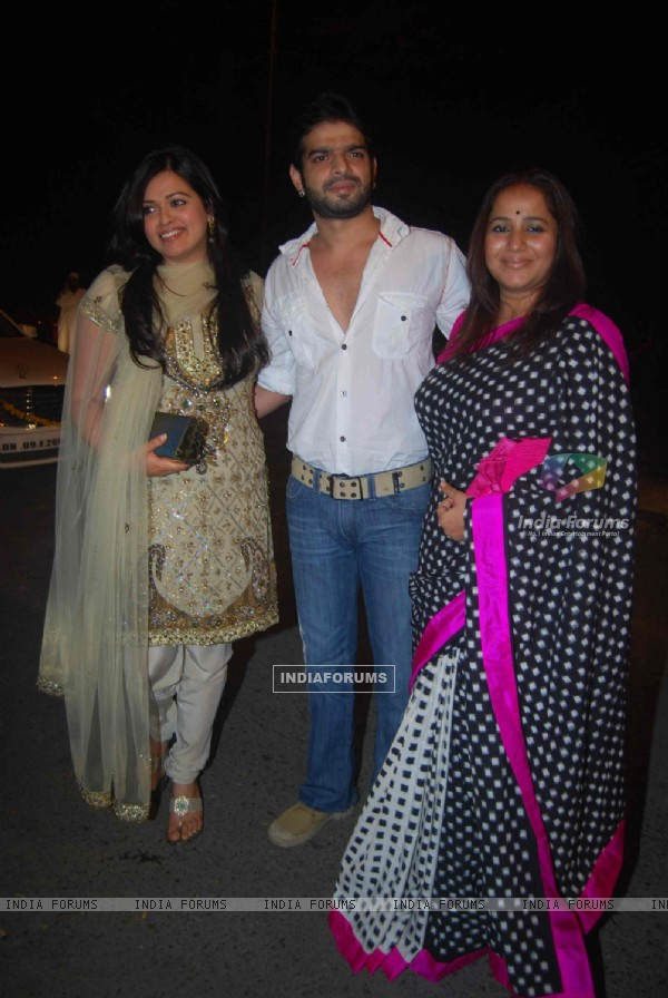 Riva Bubber, Ritu Chaudhary and Karan Patel at Ekta Kapoor's Diwali Party